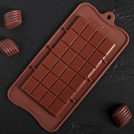 """Силиконовая форма """"Плитка шоколада Классик"""""""