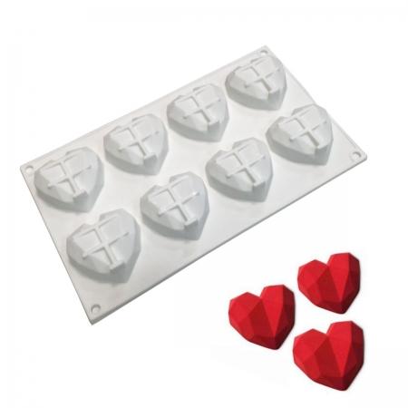 """Силиконовая форма """"Мини-сердца Оригами"""""""