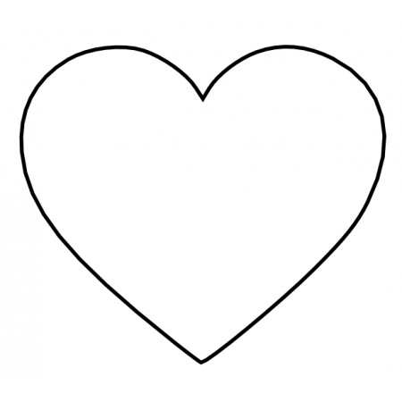 """Вырубка пластиковая """"Сердце"""" 9 см"""